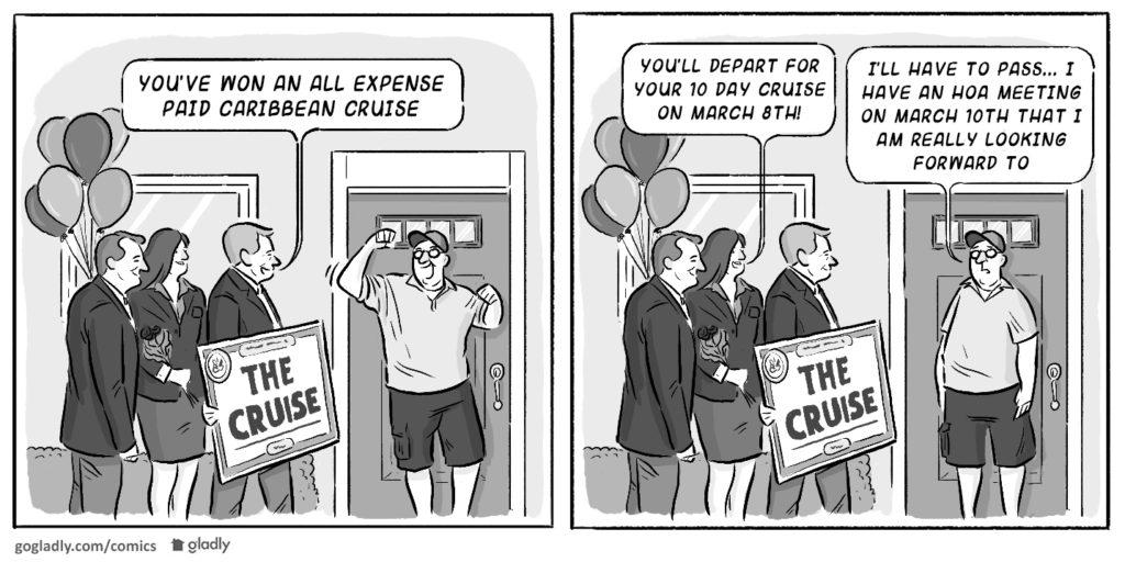HOA Meeting Attendance Comic