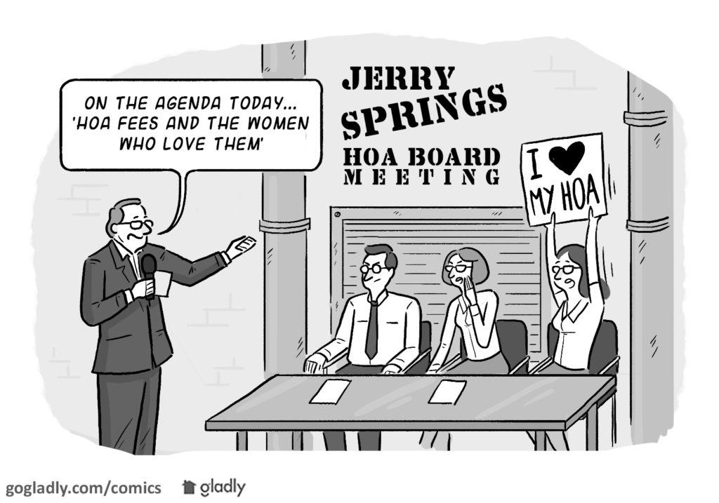 Taking control HOA meeting comic